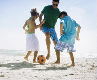 Fútbol de playa en Riviera Maya