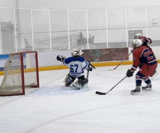 Juego de Hockey sobre hielo en Riviera Maya