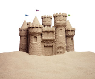 Castillos de arena en Riviera Maya